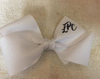 Monogrammed hair bow any color