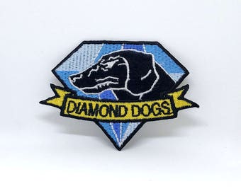 1202# Fox Hound Diamond Dogs Metal Gear Solid Big Boss Snake Embroidered Patch