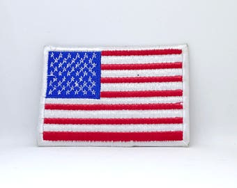 239# American Flag USA Stars and Stripes Iron on Embroidered Patch