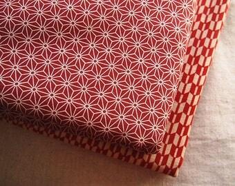 Beautiful Japanese Asanoha red 110 * 50 cm