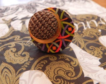 Fireworks fire adjustable button ring