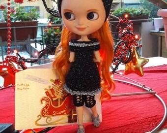 Blythe - outfit da sera Made in Italy realizzato a mano.