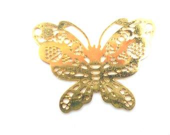 print 2 Golden Butterfly 19mm