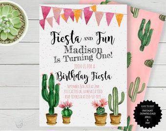 Fiesta Birthday, Fiesta Invitation, Birthday Invitation, Fiesta Party, Mexican Fiesta, Cinco De Mayo, First Birthday, Fiesta Invite