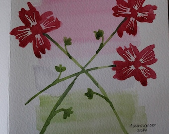 Water color flower cards for any occasion