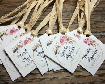 Sweets set of 15 gift tags / rustic wedding