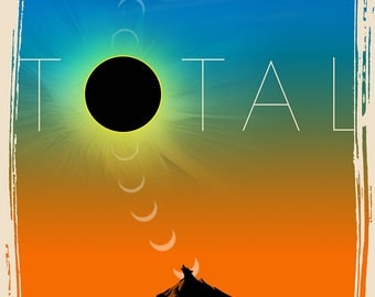 2017 Total Eclipse of the Sun Commemorative Poster