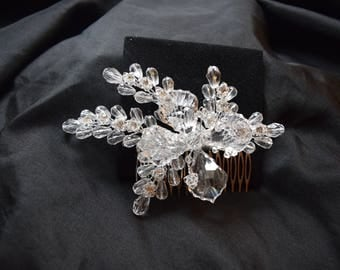 Wedding Hair Comb, Bridal, Crystal hair comb, Wedding Head Piece