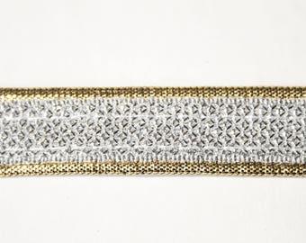 Ribbon silver Lurex Gold 1.8 cm x 1 m
