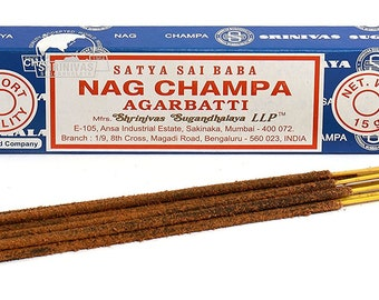 Satya Sai Baba Nag Champa Incense Sticks 15g Pack - occult spiritual incence