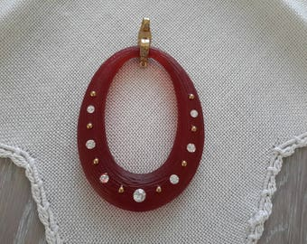 acrylic with Rhinestone Charm pendant
