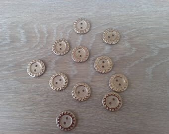 Set of 11 buttons metal for all creation