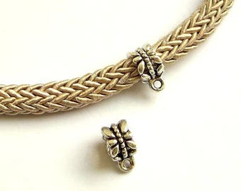 6 loops beads 12 mm, passers silver big hole pinch cord 6 mm, going with eye