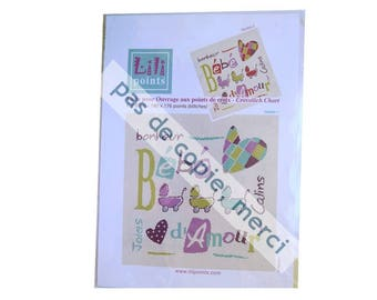 Grid embroidery Lilipoints baby love