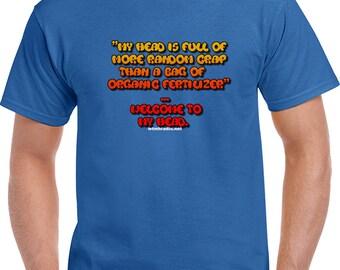 Blue Organic Fertilizer T-shirt