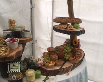 Solid wooden 3 tier cake stand