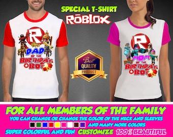 Roblox Boy Birthday Shirt,  Roblox Girl Custom Shirt, Personalized Shirt, Roblox family shirts, Birthday t-shirts Disney Family