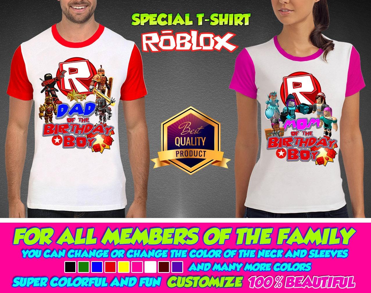 Roblox Boy Birthday Shirt Roblox Girl Custom Shirt