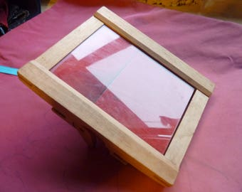 Old wooden photo frame * 16/12 cm * with the glass