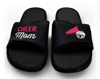 Cheer Mom Slide On Sole Sandals