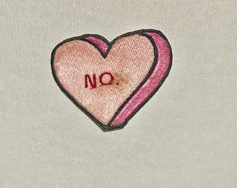 Candy Heart NO. Iron on patch