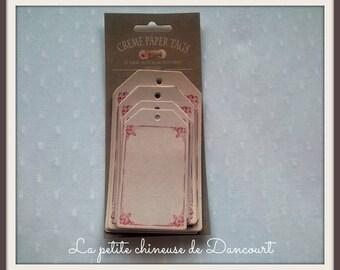 Bag tags pink Tilda