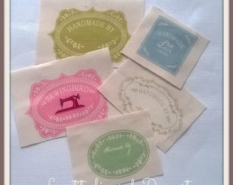 Bag of 5 labels Tilda