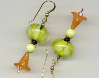 """-30 """"in holiday attire"""" 14kt gold plated earrings"""