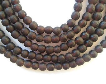 53 TGBS22 - dark Garnet - translucent glass beads