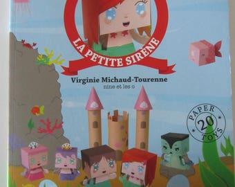 """Book """"The Little Mermaid"""" - cut, fold, glue play..."""
