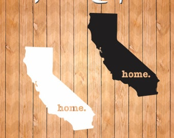 California Home, SVG Cutting File, SVG California Home, PNG, Dxf, Eps, Pdf, Vector Cutting Files California
