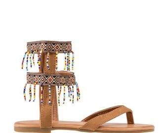 Дамски сандали Sonia камел