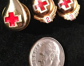 Vintage Blood Donation Pins (set)