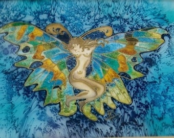 Butterfly woman painting