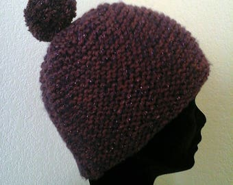 Yak, angora wool hand knitted Hat