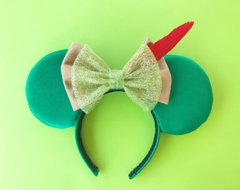 Peter Pan Mickey Ears Disney Inspired Minnie Headband