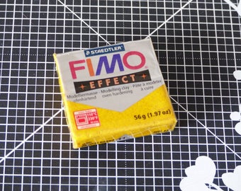 Polymer - clay baked - Fimo Effect Glitter glittery-112-Or