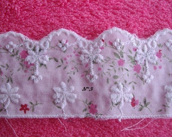 coupon lace Anglaise flowers 1 m