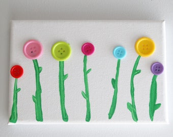 Flower buds - modern painting in the colors pop
