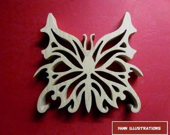 Wooden fretwork Butterfly sculpture