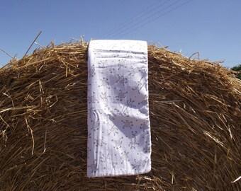 crochet blanket is lined in fabric