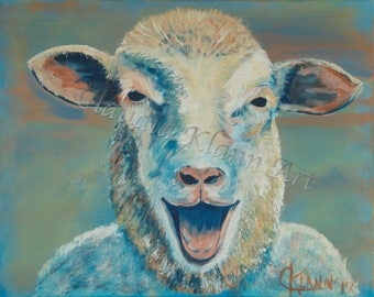 Laughing Sheep Prophetic Art Prints and Cards