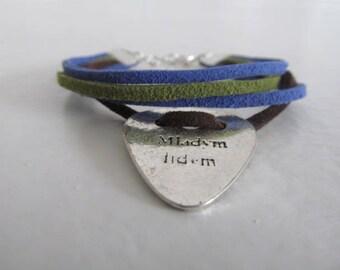 Bracelet 3 suede colors