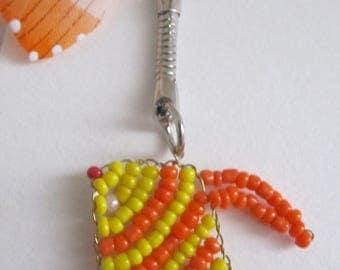 orange fish keychain