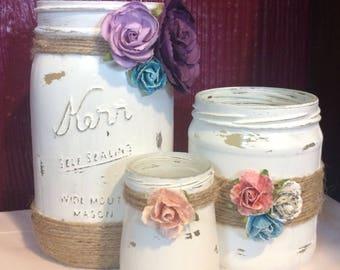 Hand crafted Jar Organizer Set