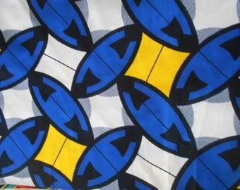 Wax fabric African loincloth coupon 90 cm x 116 cm