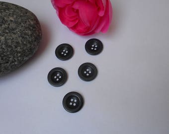 5 buttons 18mm dark gray
