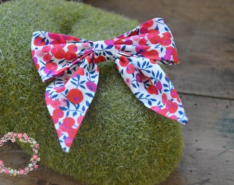 Barrette liberty wiltshire red and blue