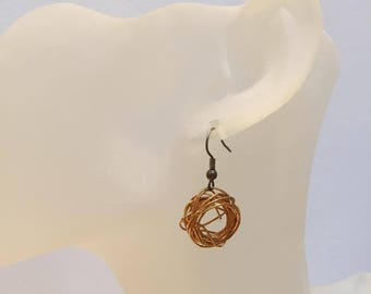 Gold aluminum Wire Earrings