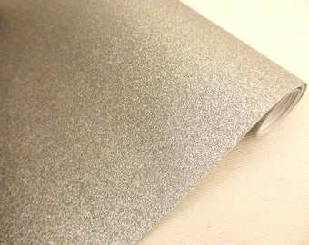 Fabric micro sequins, faux leather glitter colors argente30 / 25cm for customisation, sewing and DIY, washable